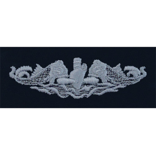 Navy Embroidered Badge: Submarine Enlisted - embroidered on coverall