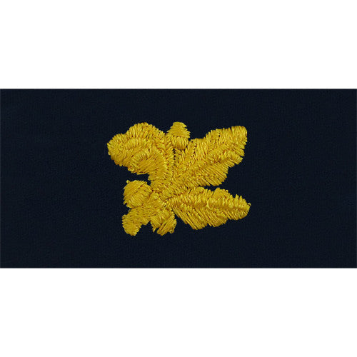 Navy Embroidered Collar Device: Supply Officer - coverall