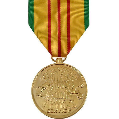 Full Size Medal: Vietnam Service - 24k Gold Plated