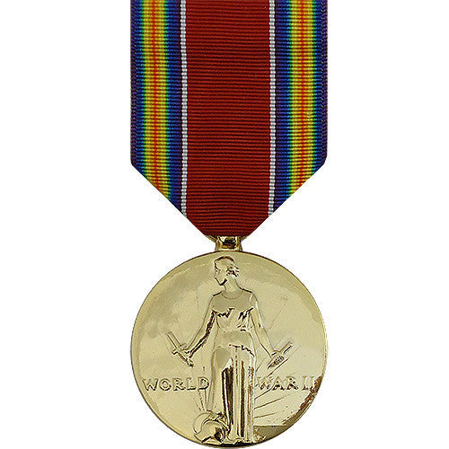Full Size Medal: WWII Victory - anodized
