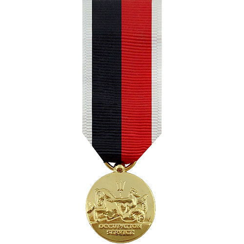 Miniature Medal: World War II Occupation Navy and Coast Guard - 24k Gold Plated