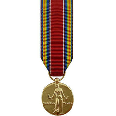 Miniature Medal: WWII World War II Victory - 24k Gold Plated