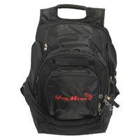 Young Marines Black Backpack: Young Marines and Swoosh Embroidered