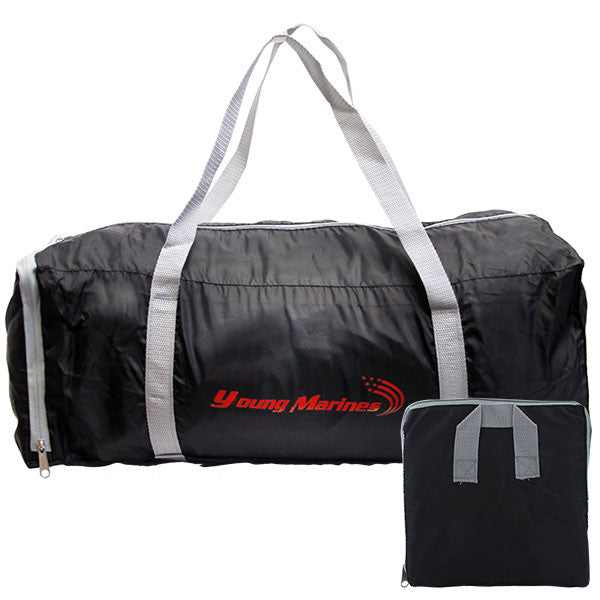 Young Marines Black Duffel Pouch Bag with Red Swoosh Logo