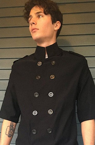 Men's Short Sleeve Chef Coat-special order