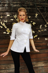 Yasmeen Chef Coat in White