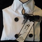 Jenny - fitted chef coat with piping