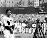 Yankees Lou Gehrig Luckiest Man  0179