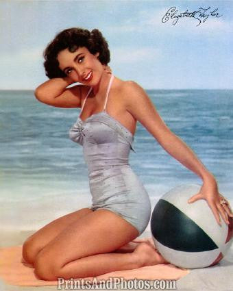ELIZABETH TAYLOR Beautiful 50s Pinup 0283