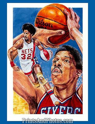 Nets Sixers DR J Julius Erving  0623