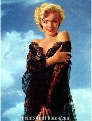 MARILYN MONROE Sexy Black Lace Pinup 0683