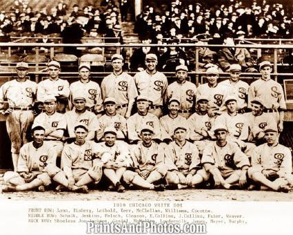 1919 Chicago Black Sox Team  0717 - Prints and Photos