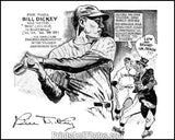Yankees BILL DICKEY Cartoon Print 0788