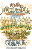 BASEBALL 1887 OUR NATIONAL GAME Print 0791