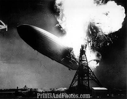 HINDENBURG German Blimp Crash  0919