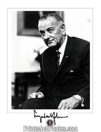 LBJ 36th President Signature  0924
