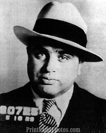 Chicago Mobster AL CAPONE Mugshot 0983