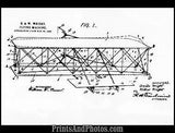 WRIGHT BROS 1st Plane Patent Drawing 0999