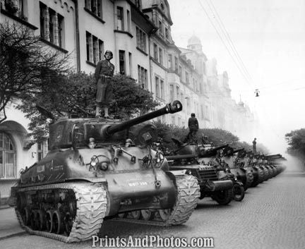 WWII Sherman Tanks on French NATO  1028