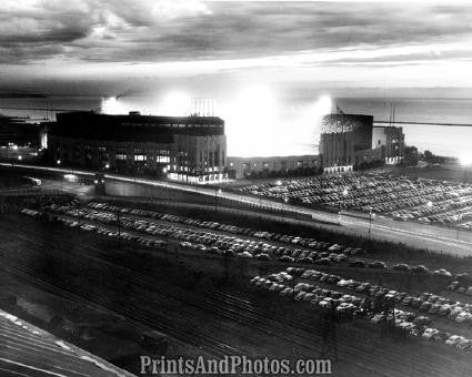 CLEVELAND Municipal Stadium Night  1089