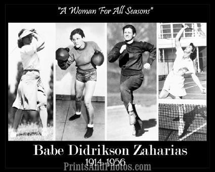 BABE DIDRIKSON All Seasons Print 1125