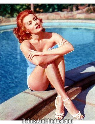 Gorgeous RHONDA FLEMING 50s Pinup 1144