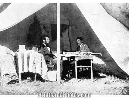 Civil War  LINCOLN & Gen McClellan 1175