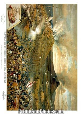 CIVIL WAR Battle of Mission Ridge PRINT 1210