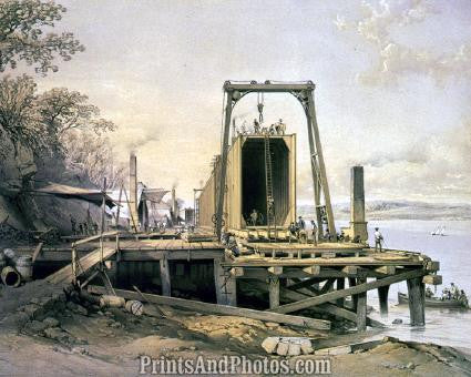 Britannia Bridge Platform of Tubes PRINT 1214