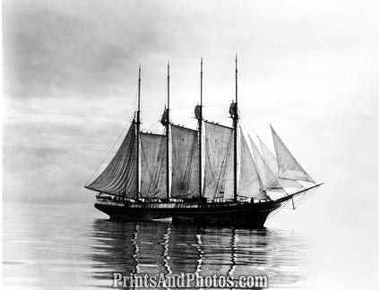 Beautiful Early Clipper Ship Print 1215