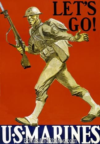 Lets Go Marines WAR  Print 1234
