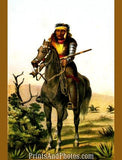 Texas LIPAN INDIAN WARRIOR Print 1237