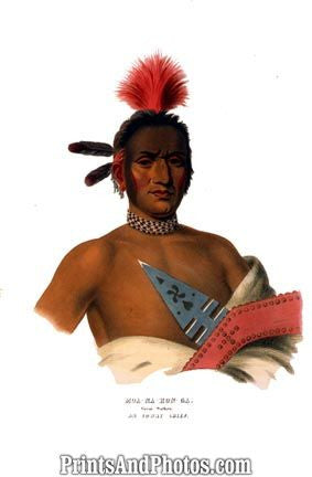 American Ioway INDIAN Chief PRINT 1240