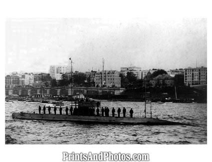 1912 Navy Submarine  1251 - Prints and Photos