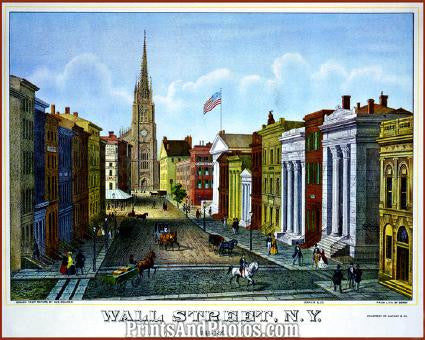 Wall Street Circa 1847 Great PRINT 1300