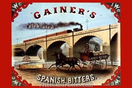GAINERS Spanish Bitters Ad 1306
