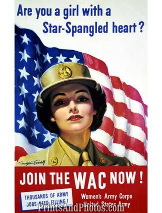WWII WAC Womens Army Corp Print 1317