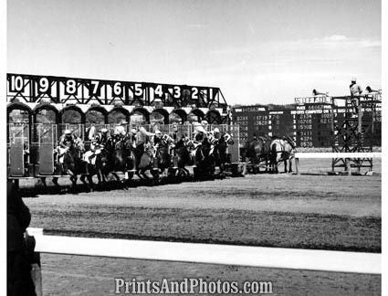 Horse Racing SUFFOLK DOWNS 1947  1596