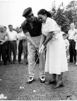 Boxer Joe Louis & Wife GOLF  1600