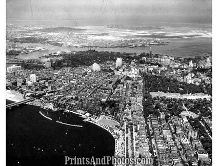 City of Boston MASS 50s Aerial  1690