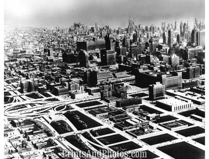 City of Chicago IL 1950s AERIAL  1691