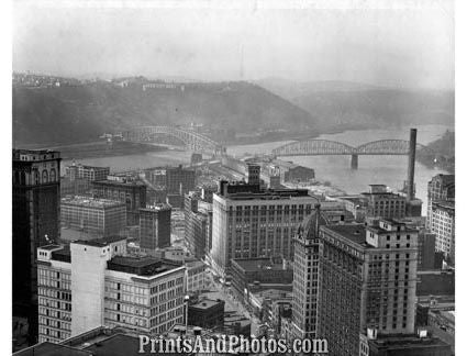 CITY Pittsburgh 1950s AERIAL  1749