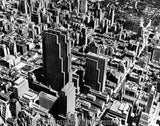 Rockefeller Center NYC 1950s AERIAL 1754
