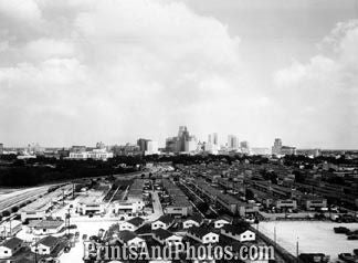 Houston Texas Skyline 1950s  1781