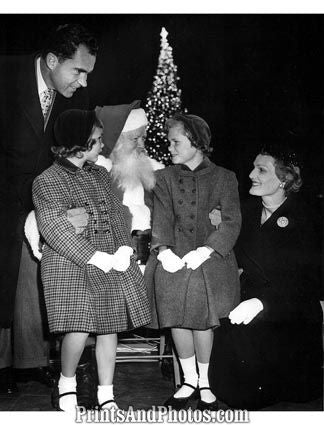 NIXON & Family 55 White House Christmas 1795
