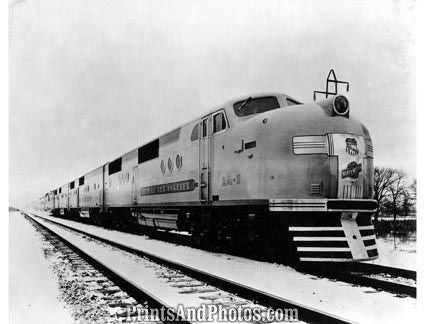 50s Railroad Aluminum Train  18950