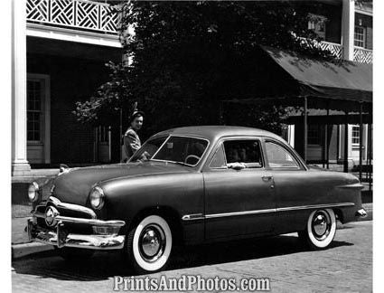 1950 Ford Deluxe Club Coupe  2077 - Prints and Photos