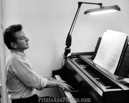 Composer LEONARD BERNSTEIN at Piano 1958 2182