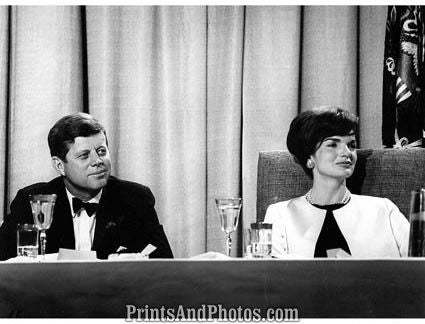 John F Kennedy & Jackie on TV  2247