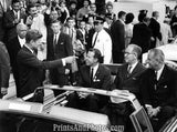 John F Kennedy Points to Limo Seat 2274